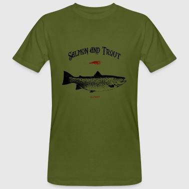 Meerforelle salmon and trout seatrout - Männer Bio-T-Shirt