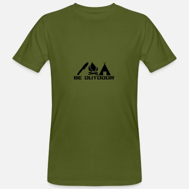 Bushcraft Be Outdoor - Männer Bio-T-Shirt