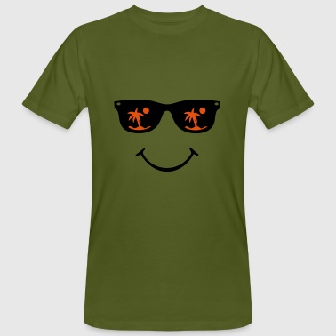 Zonnebril smiley - Mannen Bio-T-shirt