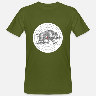 Hunting Wild Boar Hunting target with a wild boar - Men's Organic T-Shirt