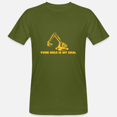 Flirt yourhole is my goal - Männer Bio T-Shirt