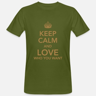 Hetero keep calm and love who you want - Mannen Bio-T-shirt