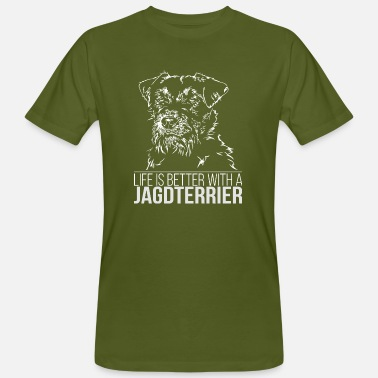Djt JAGDTERRIER Life is better Wilsigns Jagdhund DJT - Männer Bio-T-Shirt