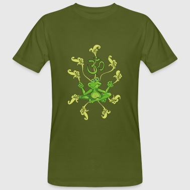 The frog sings the OM at his Yoga-Lesson - Men's Organic T-shirt