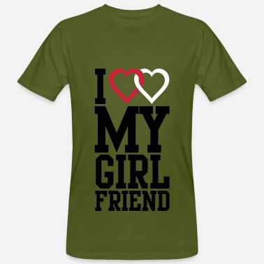 I Love My I love my Girlfriend - Mannen Bio-T-shirt