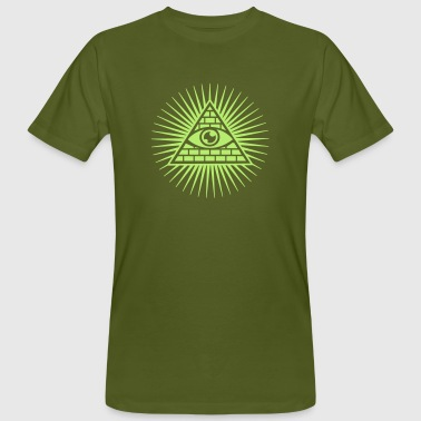 All seeing eye - Omniscience & Supreme Being - Men's Organic T-Shirt