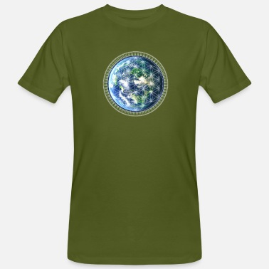 Flower Of Life Gaia Flower of Life / Earth /  - Mannen Bio-T-shirt