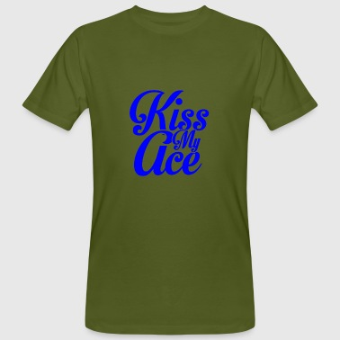 Black Ace KISS MY ACE - Men's Organic T-Shirt