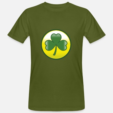 Three Leafed Clover cloverleaf - Men's Organic T-Shirt