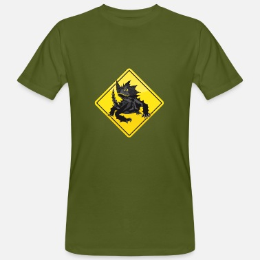 Thorny Australia Roadsign Thorny Devil - Men's Organic T-Shirt