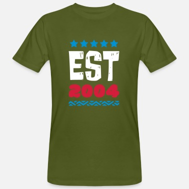 2004 EST 2004 - ESTABLISHED IN 2004 - Men's Organic T-Shirt