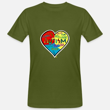 Autism Awareness Autism awareness pop art heart - Men's Organic T-Shirt