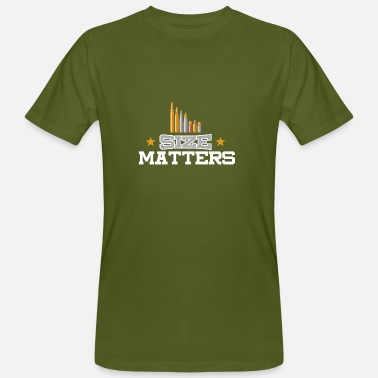 Amendement Size Matters - Tweede Amendement - Mannen Bio-T-shirt