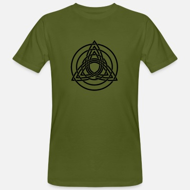Symbol Triquetra, Germanic paganism, Celtic art, - Men's Organic T-Shirt