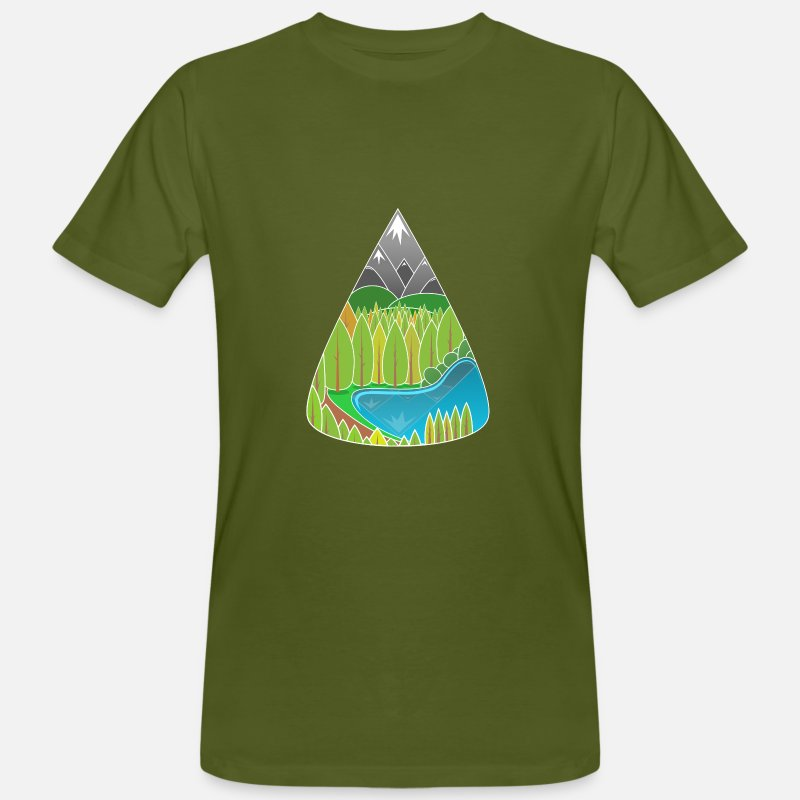 Nature T-Shirts - nature - Men's Organic T-Shirt moss green
