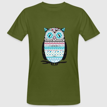 colorfully patterned owl - Men's Organic T-shirt