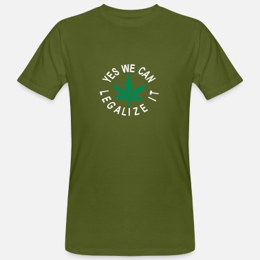 hanfblatt yes we can legalize it - Männer Bio T-Shirt