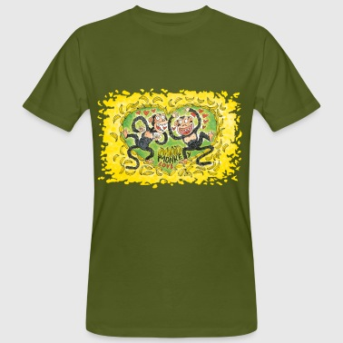 Mad Monkey Love - Männer Bio-T-Shirt