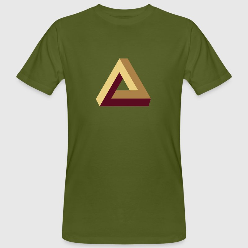 Impossible Triangle, optical illusion, Escher,  - T-shirt bio Homme