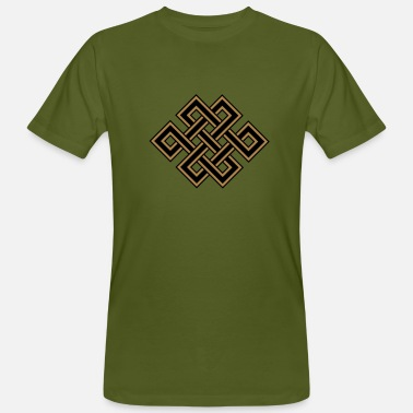 Tibetan Endless Knot Tibetan endless knot, eternal, celtic, loop, luck - Men's Organic T-Shirt