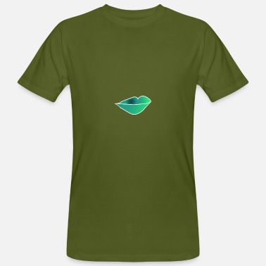 Green Lips lips - Men's Organic T-Shirt