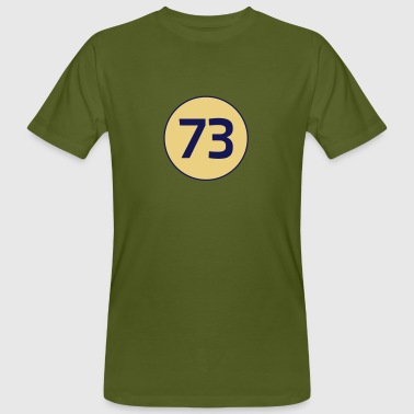 73 the best number Big Bang Zahlenrätsel Theorie - Männer Bio-T-Shirt
