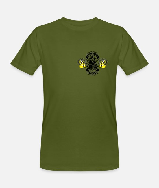 Rebellion T-Shirts - Yellow west rebellion - Men's Organic T-Shirt moss green