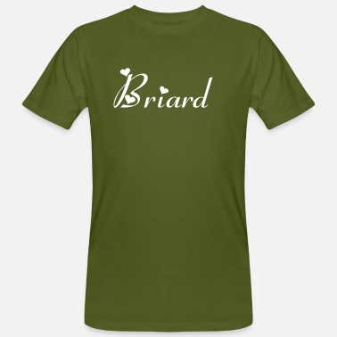 Breeding Briard breed dog, dog breed - Men's Organic T-Shirt