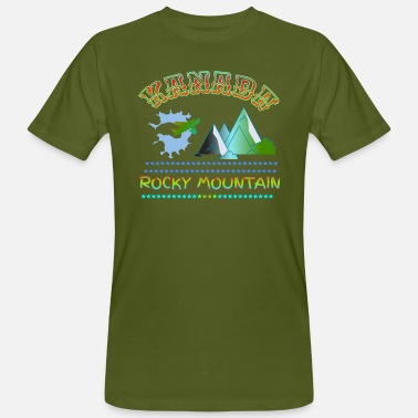 Mountains Rocky Mountain - Men's Organic T-Shirt