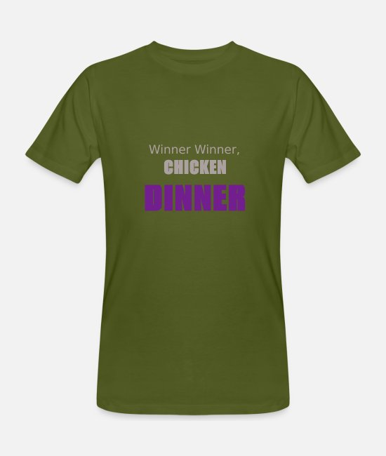 Dinner T-Shirts - Chicken dinner - Men's Organic T-Shirt moss green