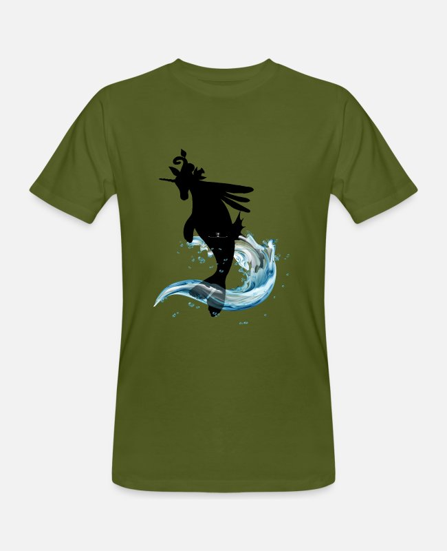 Water T-Shirts - Energy creatures Libcornis - Men's Organic T-Shirt moss green
