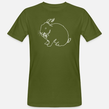 Outline Graphics Rabbit outline - Men's Organic T-Shirt