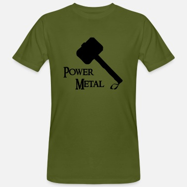 Power Metal Power Metal with a hammer - Men's Organic T-Shirt