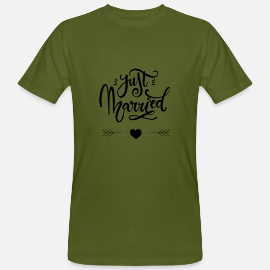 Just T-shirts - Just married - T-shirt bio Homme vert mousse
