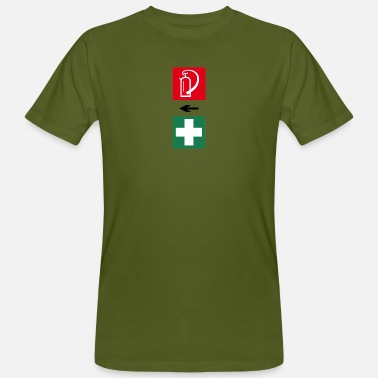 Aid Fire and First Aid - Men's Organic T-Shirt