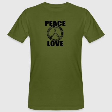Peace Love T-Shirt Peace and Love Peace Sign - Men's Organic T-shirt