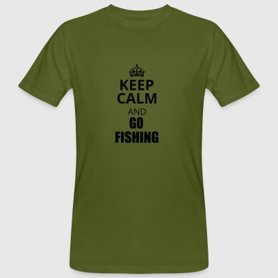 keep calm an go fishing - Men's Organic T-shirt