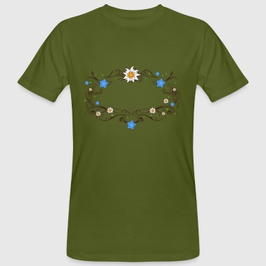 An Edelweiss and gentian frame - Men's Organic T-shirt