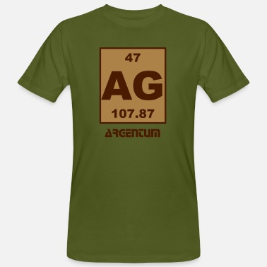 Argentum Argentum (Ag) (element 47) - Men's Organic T-Shirt