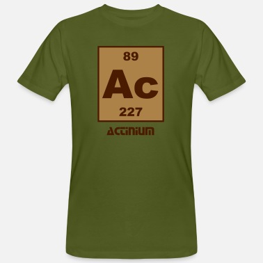 Actinium Actinium (Ac) (element 89) - Men's Organic T-Shirt