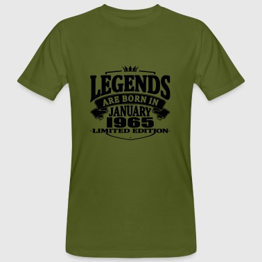 Legends are born in january 1965 - Men's Organic T-shirt