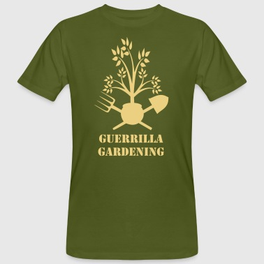 Guerrilla gardening badge - T-shirt bio Homme
