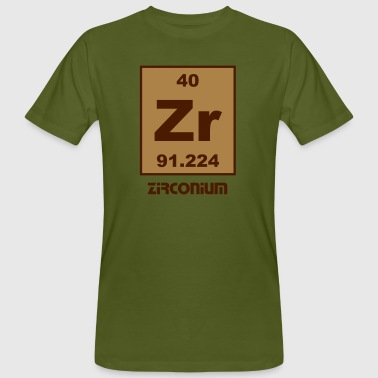Zirconium (Zr) (element 40) - Men's Organic T-Shirt