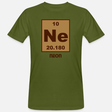Ne-neon Neon (Ne) (element 10) - Men's Organic T-Shirt