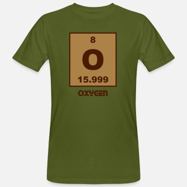 O Element Oxygen (O) (element 8) - Men's Organic T-Shirt