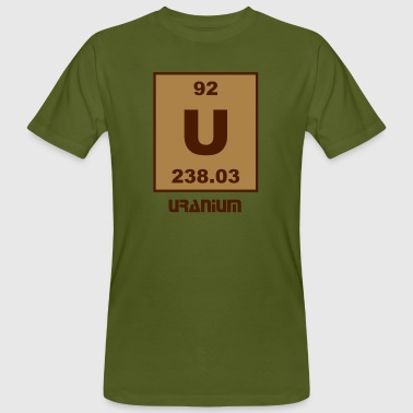 Uranium (U) (element 92) - Men's Organic T-shirt