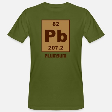 Plumbum Plumbum (Pb) (element 82) - Men's Organic T-Shirt