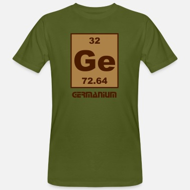 Germanium Germanium (Ge) (element 32) - Men's Organic T-Shirt