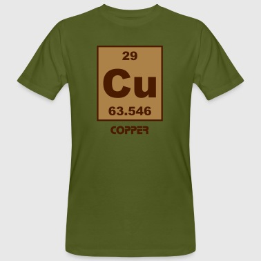 Copper (Cu) (element 29) - Men's Organic T-Shirt
