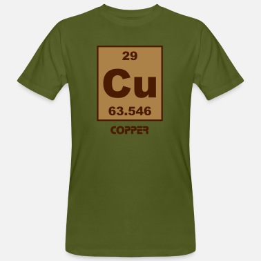 Copper Copper (Cu) (element 29) - Men's Organic T-Shirt